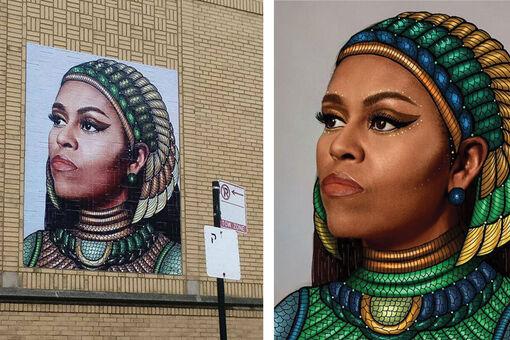 Michelle Obama Mural Ignites Plagiarism Controversy