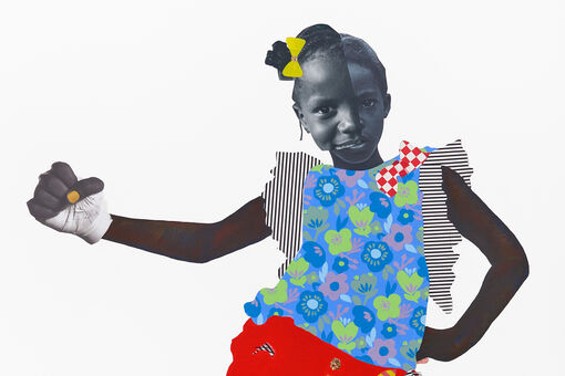Deborah Roberts's Gripping Collages Reconfigure Black Girlhood