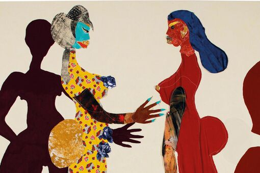Tschabalala Self's Auction Record Broken Amid Fevered Bidding at Christie's