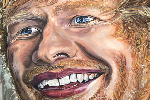 I'm Obsessed with This Strangely Beautiful Painting of Ed Sheeran