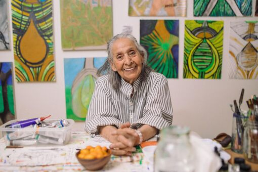 The Magical Life of 98-Year-Old Painter Luchita Hurtado