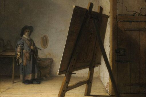 This Early Rembrandt Perfectly Captures the Anxiety of Facing the Blank Canvas