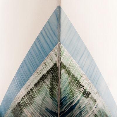 "Michele Dragonetti, 'Untitled (""Blue Streak"")', 2015-printed/mounted 2017"