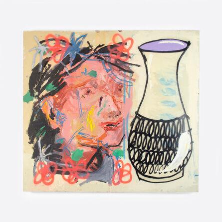 Manu Garcia, 'Cabeza y jarrón (Head and vase)', 2019