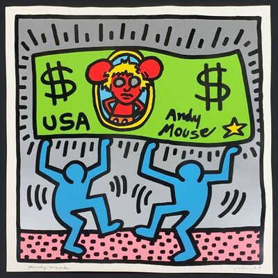 Keith Haring, 'Andy Mouse III', 1986