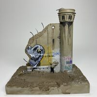 Banksy, 'Banksy, Walled Off Hotel Statuette - Helium Heart / Love Hurts - 3 panels and a watchtower', 2018