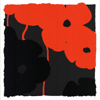 Donald Sultan, 'Red & Black Poppies II', 2007