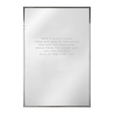 Jenny Holzer, 'Mirror (In a Glass House)', 2018