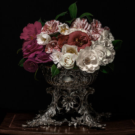 T.M. Glass, 'Camelias in a Silver Punch Bowl', 2018