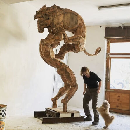 Sophie Dickens, 'Hercules and the Lion, monumental', 2020