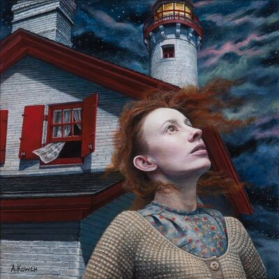 Andrea Kowch, 'Night Watch - Limited Edition Hand Signed Print', 2019