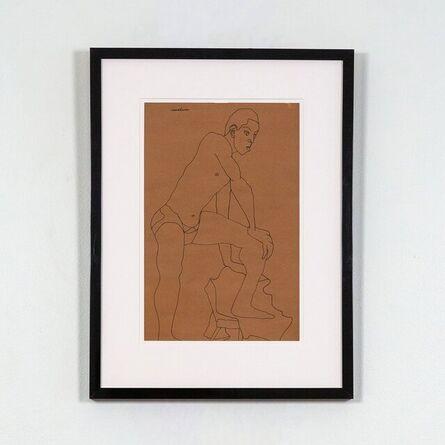 Louise Nevelson, 'Male Model Posing', 1930
