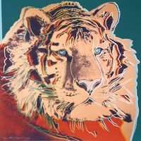 Andy Warhol, 'Siberian Tiger from Endangered Species (FS II.297)', 1983
