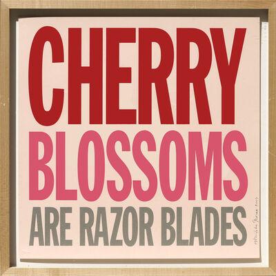 John Giorno, 'Cherry Blossoms are Razor Blades', 2007