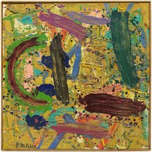 Jay Milder, 'Untitled Abstract Composition, Abstract Expressionist Oil Painting', 20th Century