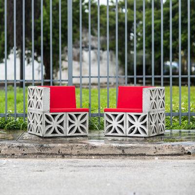 Emmett Moore, 'Flower Block Unit, Chairs', 2014