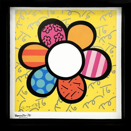 Romero Britto, 'FLOWER POWER (YELLOW)', 2000