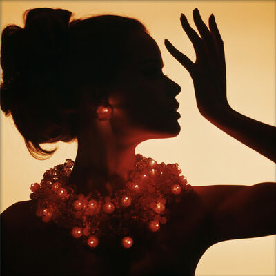 Bert Stern, 'Beauty Head with Necklace of Lights, with Veruschka', 1963