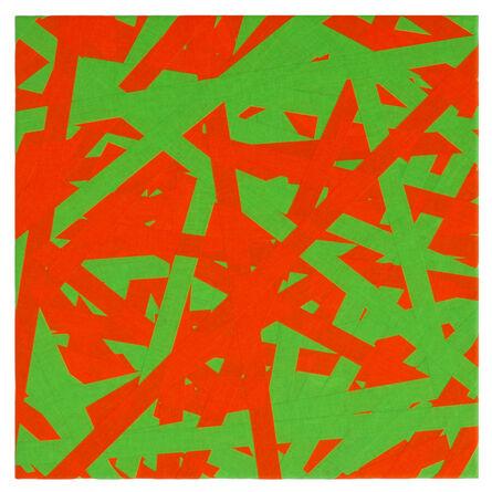 Daniel Schörnig, 'SIGNAL (green & orange)', 2018
