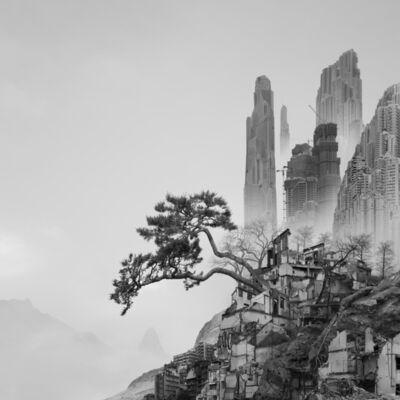 Yang Yongliang 杨泳梁, '太古蜃市 - 崖松 Time Immemorial - Old Pine', 2016
