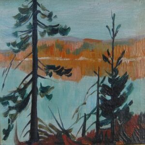 Clarence A. Gagnon, 'Automne, Charlevoix', 1923