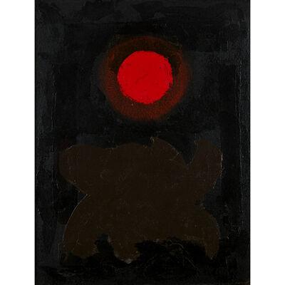 Adolph Gottlieb, 'Brown On Black', 1970