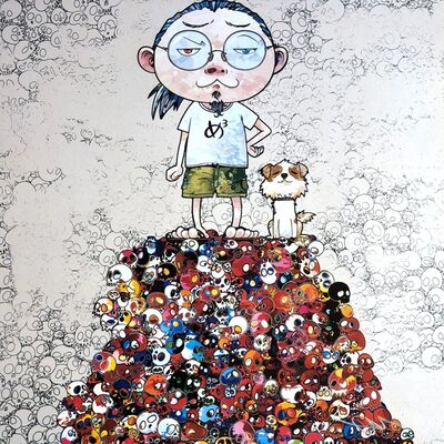Takashi Murakami, 'Pom & Me: On the Red Mound of the Dead ', 2013
