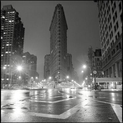 David Corio, 'Flat Iron Building at Night, 23rd Street, 5th Ave & Broadway NYC', 1992