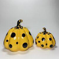 Yayoi Kusama, 'Yayoi Kusama, Rare Small Signed Yellow & Black Resin Pumpkin 6'' x 6 1/4'' x 21''', ca. 2015 -present
