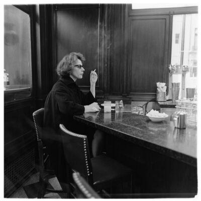 Diane Arbus, 'Woman at a counter smoking, N.Y.C.', 1962 / printed by Neil Selkirk