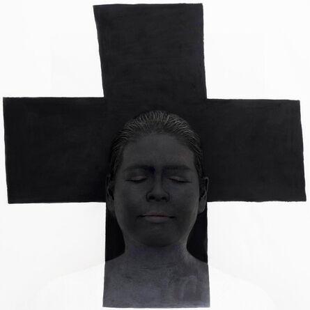Kimiko Yoshida, 'Meditation (Black cross by Malevitch, 1918, MNAM Paris). Self-portrait', 2016