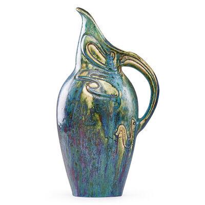 Pierre Adrien Dalpayrat, 'Large pitcher with organic tendrils, France', ca. 1900