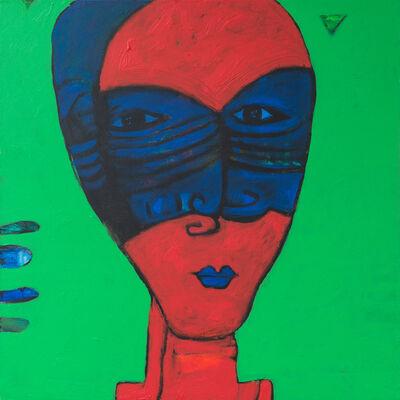 Islam Kamil, 'The Blue Mask / القناع الازرق', 2018