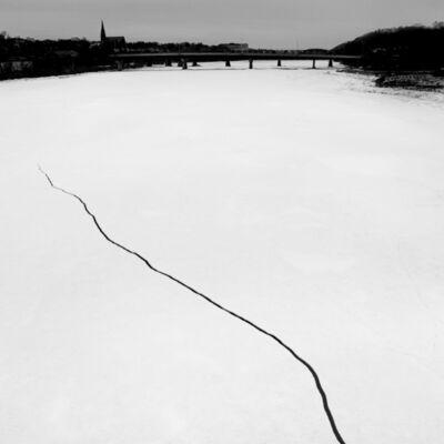 Matt Black, 'Ice crack in a frozen river. Bangor, Maine. USA.', 2016