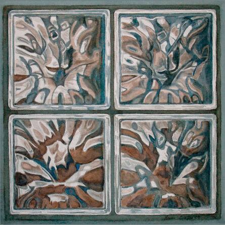 Lauren Sweeney, 'Rorschach Test in Glass Block', 2009