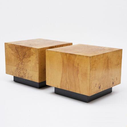 Milo Baughman, 'Pair of Milo Baughman Cube Tables', 1970
