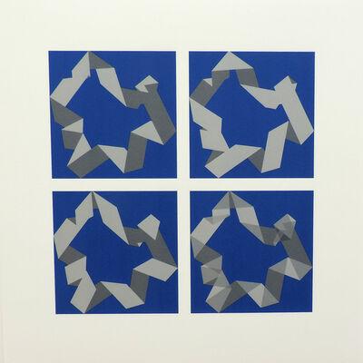 Vera Molnar, '3 pliages, 4 façons D, Nr.2 ', 2003-2009