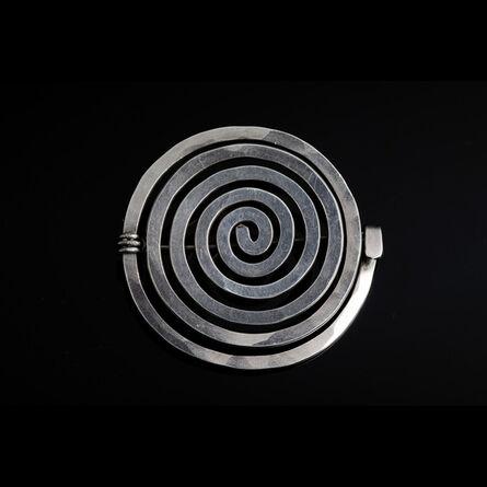 Alexander Calder, 'Sterling silver spiral brooch', 1952