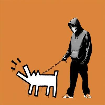 Banksy, 'Choose Your Weapon (Dark Orange)', 2010