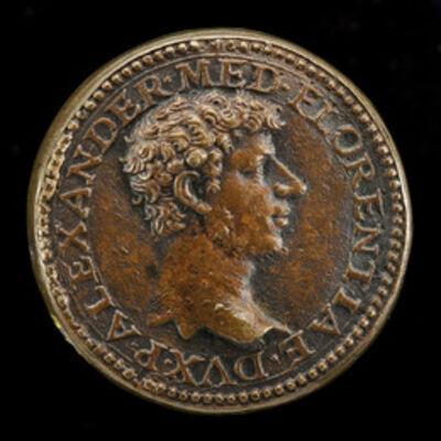 Domenico di Polo di Angelo de' Vetri, 'Alessandro I de' Medici, 1510-1537, 1st Duke of Florence 1532 [obverse]'