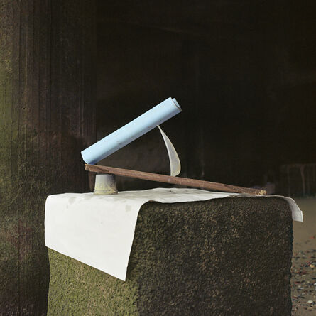 Angela Blažanović, 'Plastic Flower Pot, Piece of Wood, Piece of Plastic and some Blue Styrofoam', 2019