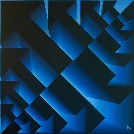 Lakshmi Mohanbabu, 'Primary Interactions Reverse Light - Blue', 2017