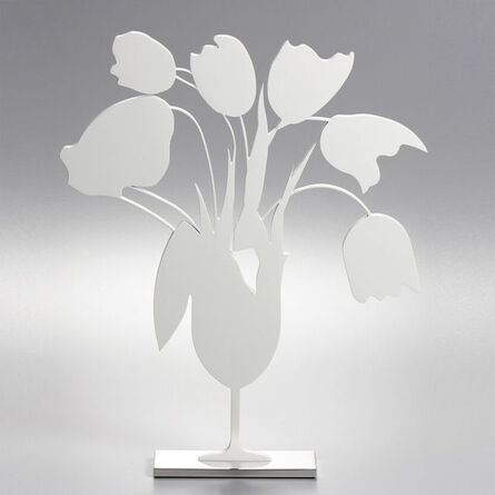Donald Sultan, 'White Tulips and Vase, April 4, 2014', 2014