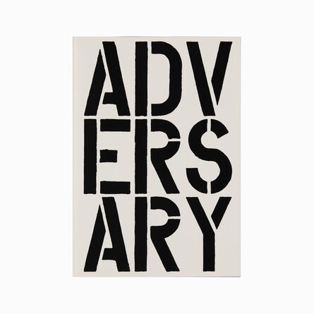 Christopher Wool, 'Adversary (page from Black Book) ', 1989