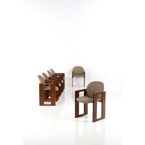 Afra & Tobia Scarpa, 'Set of six armchairs', 1974