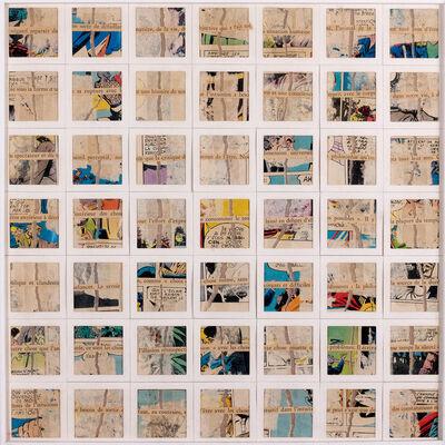 """Gil J Wolman, 'Décomposition """"Négatif reparaît da""""', 1980"""
