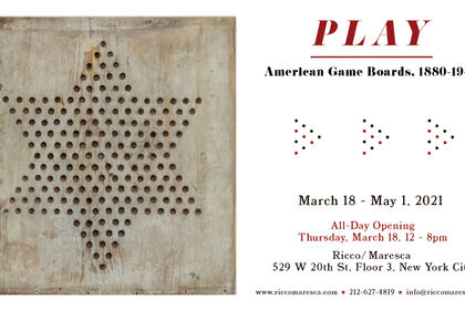 PLAY: American Game Boards, 1880 - 1940