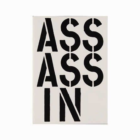Christopher Wool, 'Assassin (page from Black Book) ', 1989
