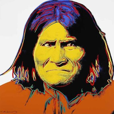 Andy Warhol, 'Geronimo, from Cowboys and Indians', 1986