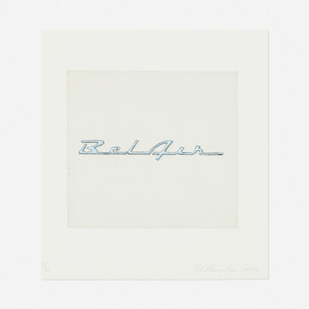 Ed Ruscha, 'Bel Air from the Motor City portfolio', 2009